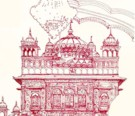 An example of K.P. Singh's architectural drawings, in this case the beautiful Golden Temple